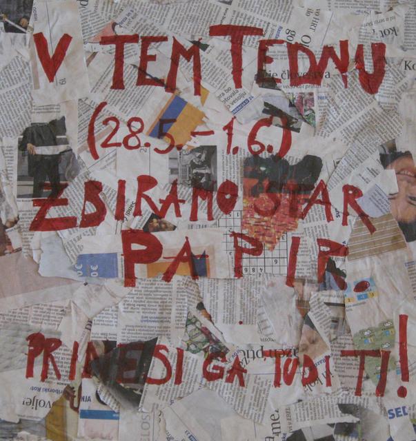 Šolsko leto 2011/12: Zbiranje papirja